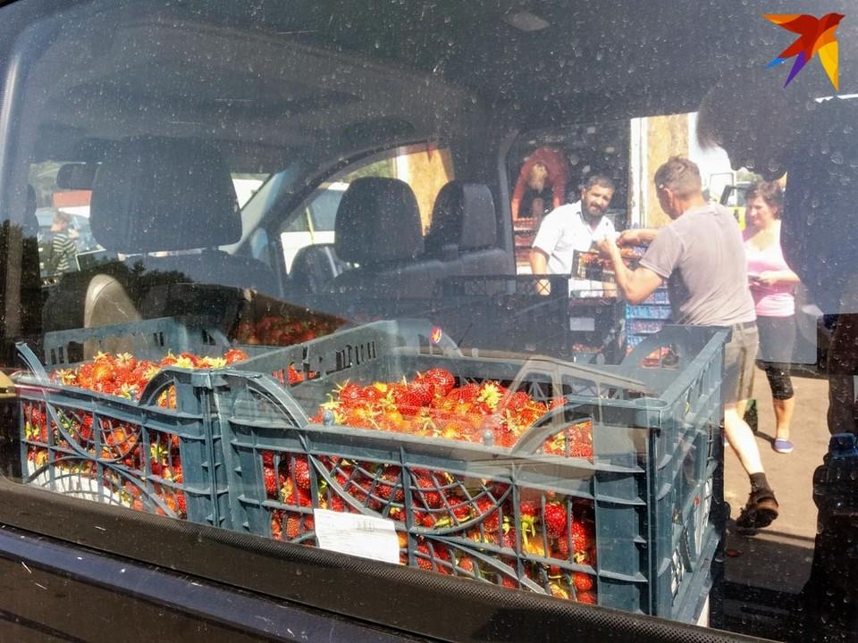 На клубничном рынке во Дворце что ни день, то скандал: не оправдываются ожидания людей по поводу заработка на ягодах.