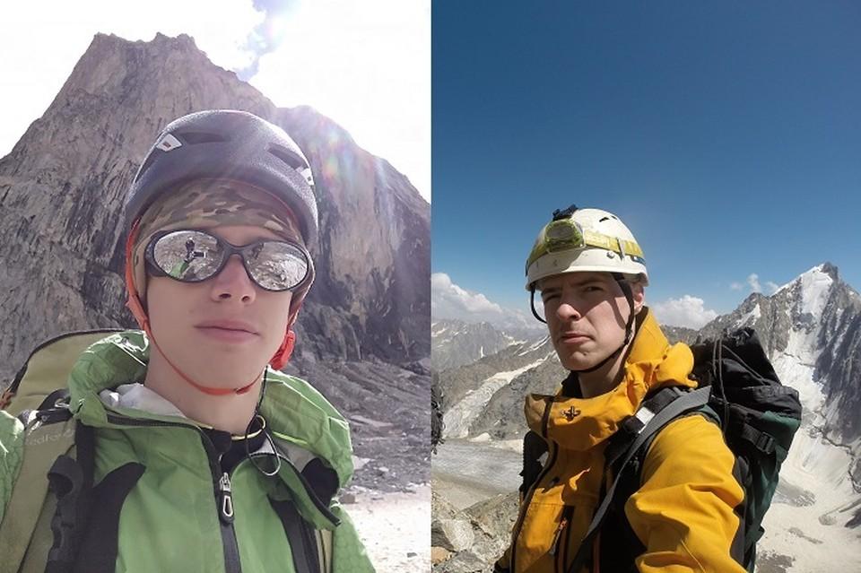Константин (слева) и Даниил (справа) погибли во время восхождения на гору