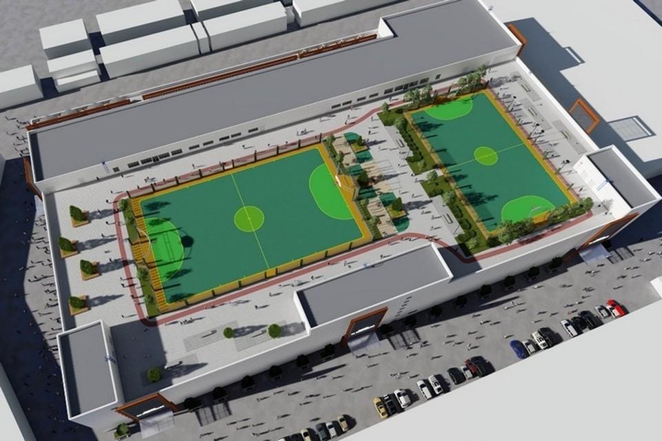 Общая площадь торгово-развлекательного центра – 40 тысяч квадратных метров. Фото: «Сибинжиниринг»