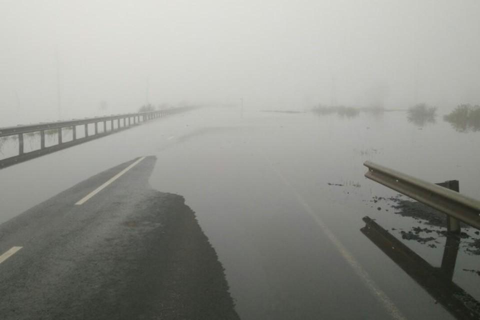 Временно закрыто движение для всех видов транспорта на Р-255 в Тулуне. ФОТО: Упрдор «Прибайкалье».
