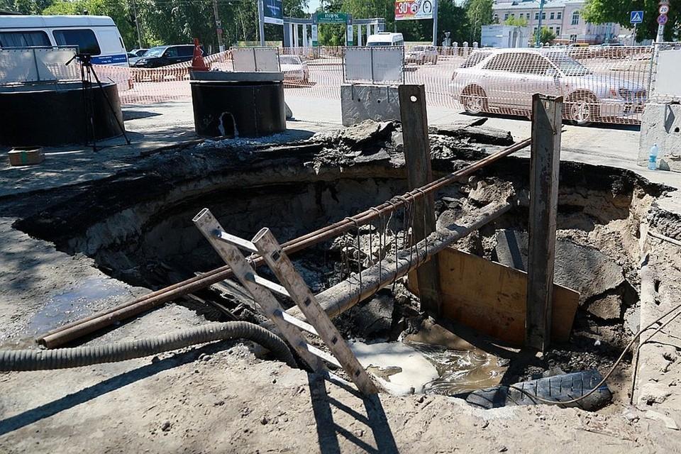 В сентябре прошлого года работы на улице Ползунова были приостановлены.