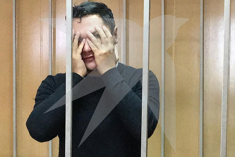 Максим Гареев в помещении суда.