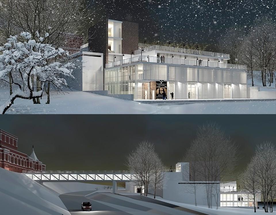 Вот таким предлагали сделать новое здание театра в Струковском саду
