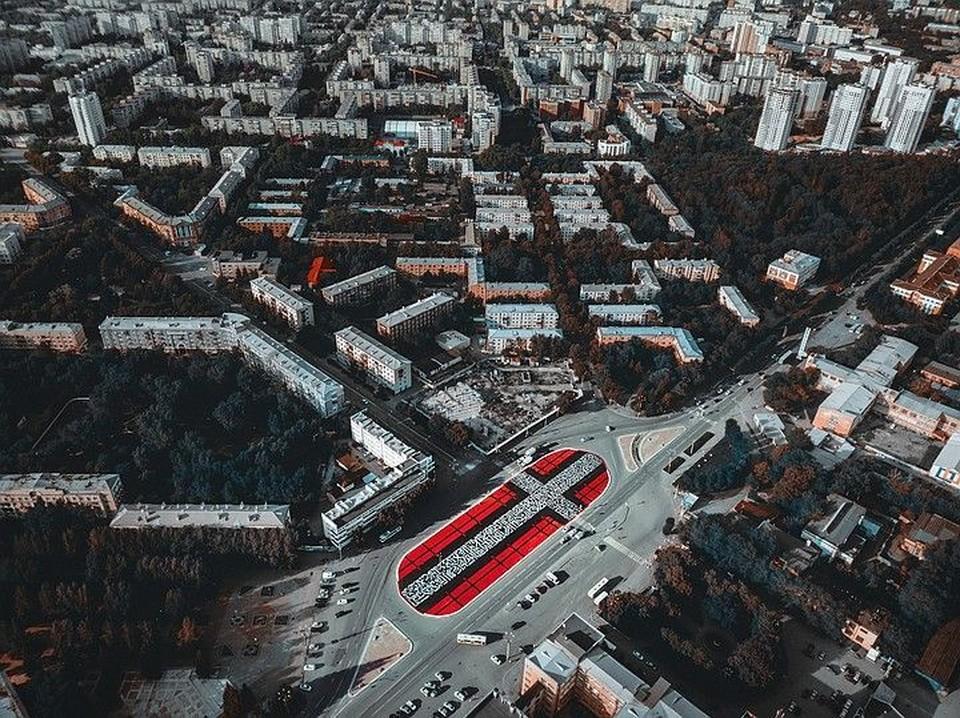 Работа знаменитого художника Покраса Лампаса, сделанная им в Екатеринбурге в рамках фестиваля уличного искусства Стенограффия Фото: vk.com/stenograffia