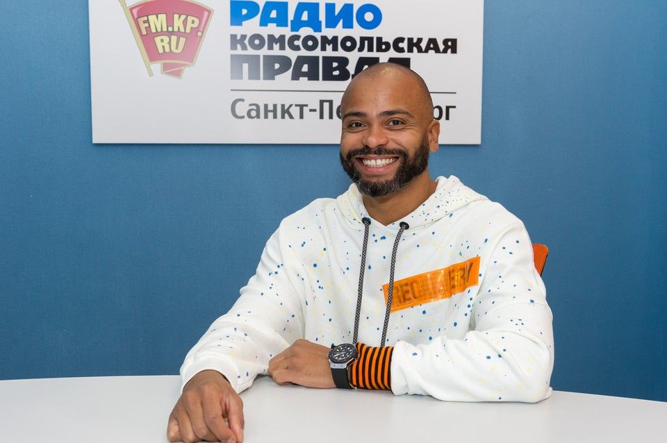 Мигель на Радио Комсомольская правда в Санкт-Петербурге.