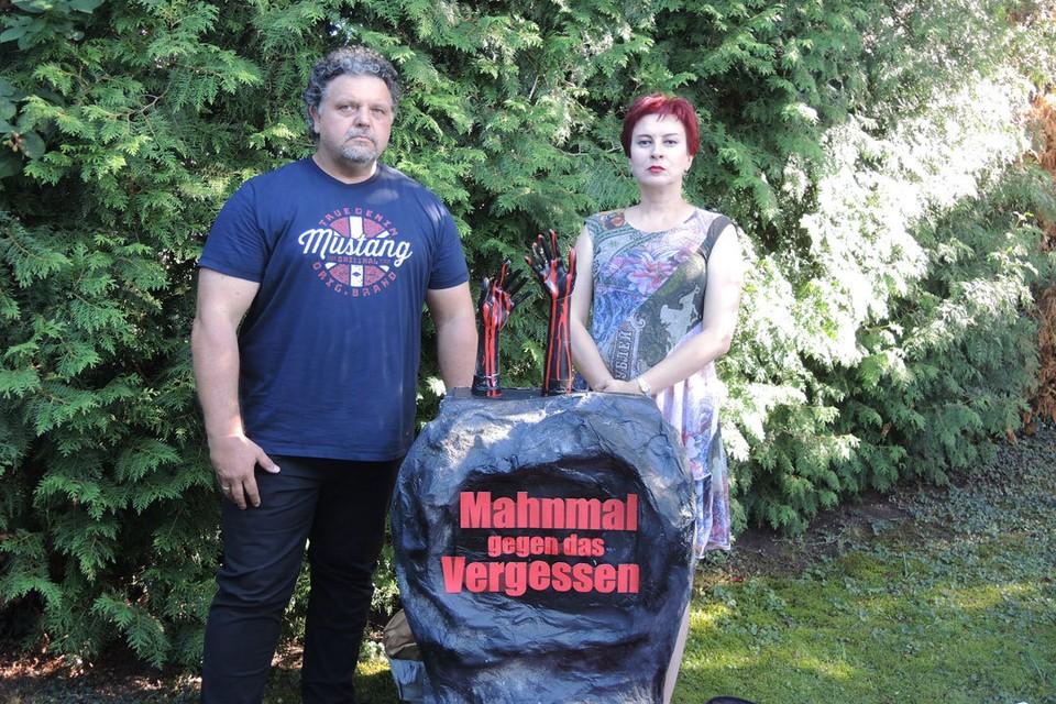 """Памятник """"Нет забвению"""" в саду Роберта Фогельмана."""