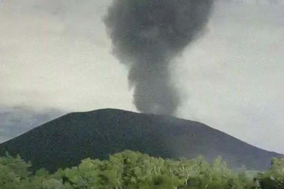 Асама является самым крупным в Японии вулканом