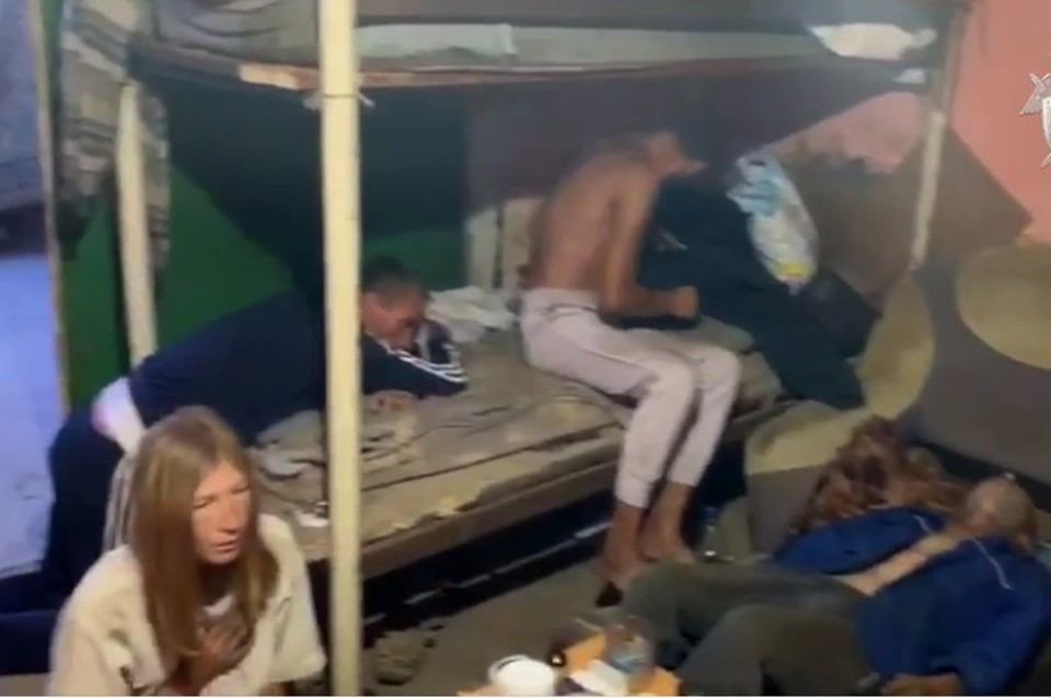 Под Ростовом в убитом доме насильно держали 14 человек. Фото: стоп-кадр видео СКР