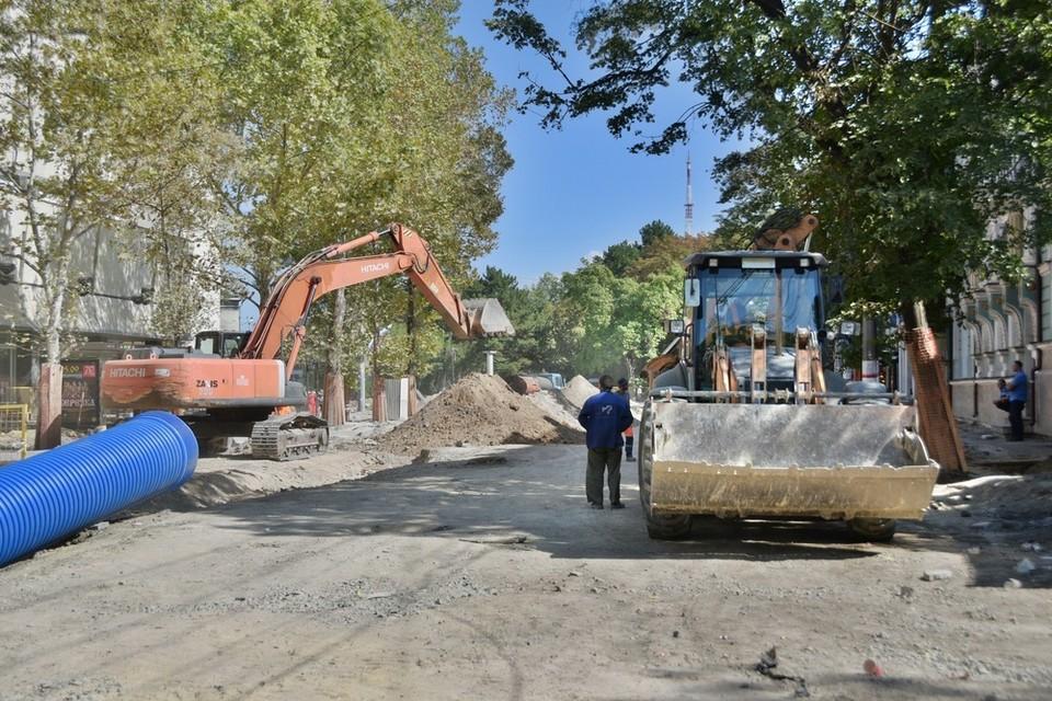 Работы на объекте начались 17 августа. Фото: пресс-служба администрации Симферополя