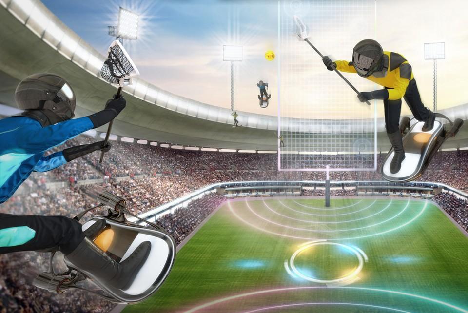 Гоняться за мячом можно будет во всех четырех измерениях. Фото: Samsung