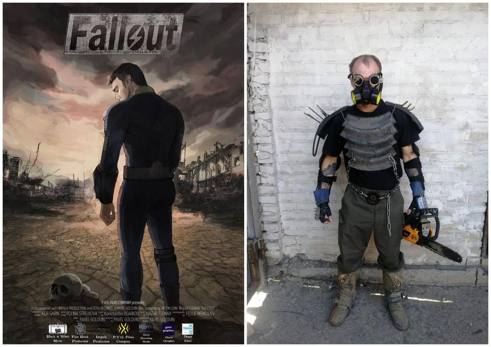 Постер будущего фильма и костюм одного из персонажей.
