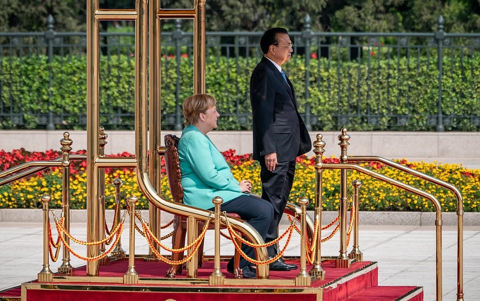 Ангела Меркель и премьер Госсовета КНР Ли Кэцян