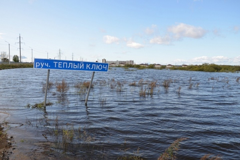 Амурский паводок начал отходить от берегов Комсомольска-на-Амуре