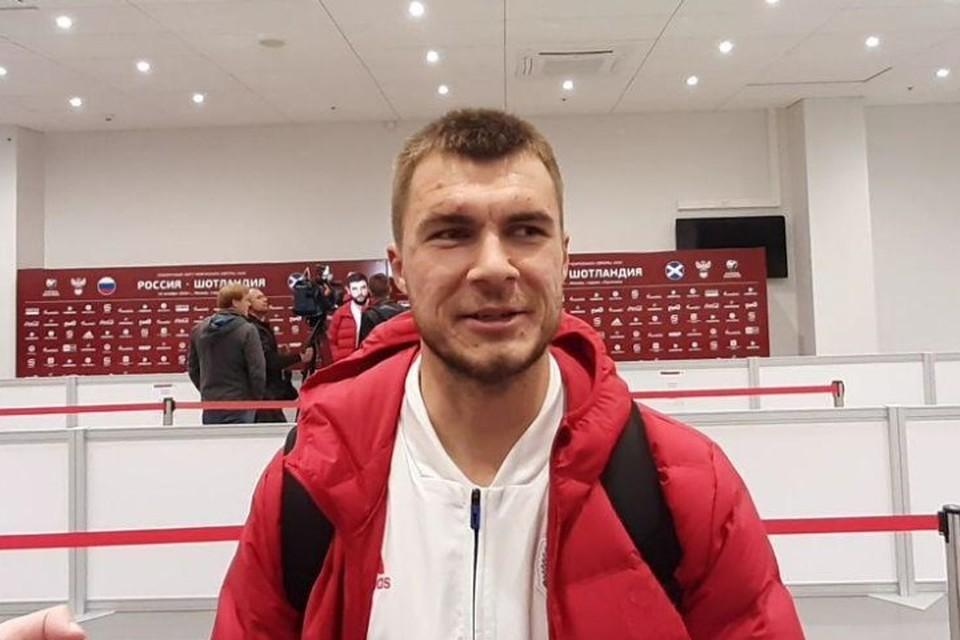 Дебютант сборной России Николай Комличенко.