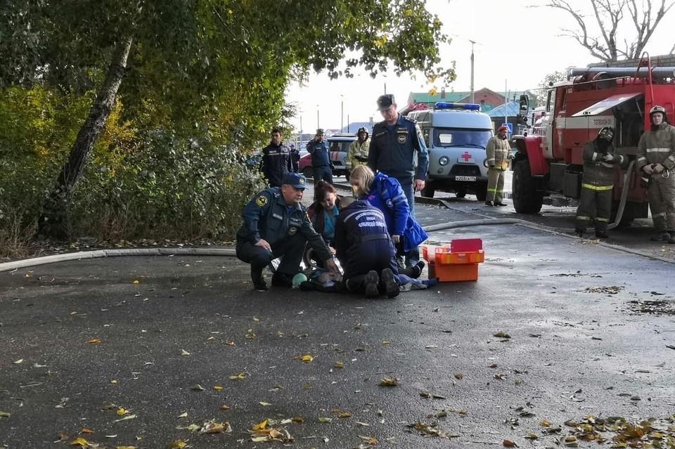 По словам очевидцев, пострадал ребенок. Фото: vk.com/«Троицк»