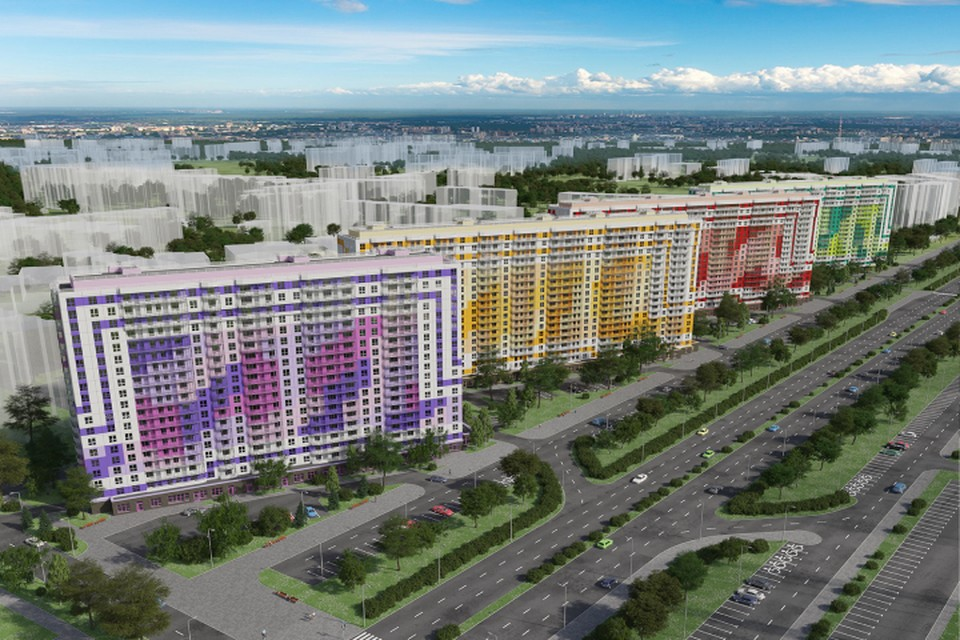 Цвета для корпусов нового жилого комплекса выбраны с особым смыслом. Фото предоставлено пресс-службой компании «Лидер Групп».