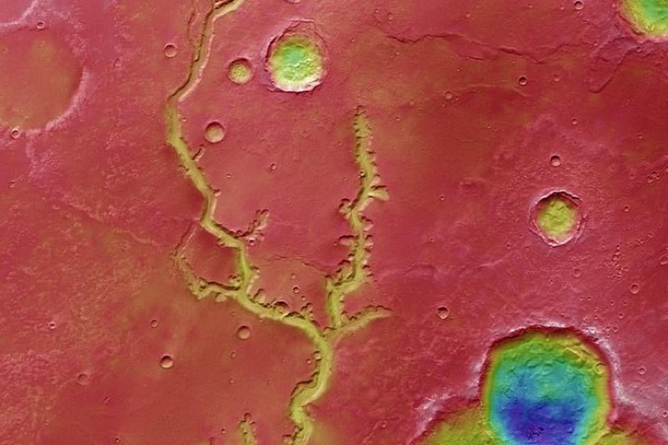 У марсианских рек было много притоков и рукавов.