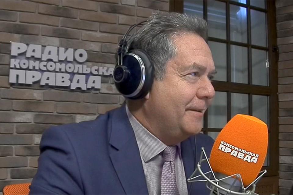 Николай Платошкин в студии Радио «Комсомольская правда»