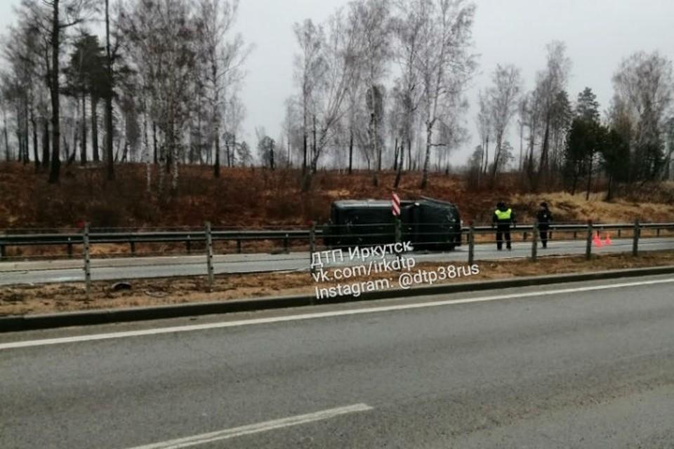 ДТП под Ангарском: погиб водитель внедорожника. Фото: ДТП 38RUS Иркутск
