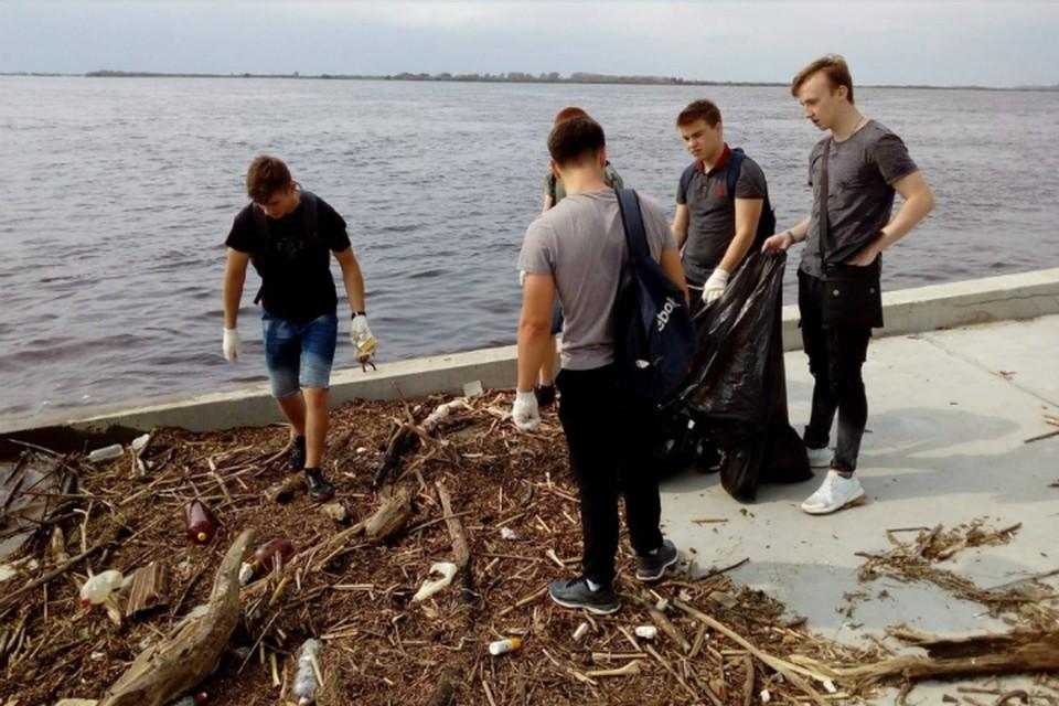 Добровольцы в Хабаровском крае перевыполнили план по чистоте берегов ФОТО: Сидоров Владимир