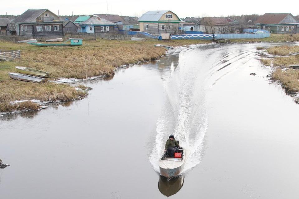 """Население деревни Ачиры даже без ловли рыбы в злополучном озере не голодает. Фото ТК """"Тюменское время"""""""