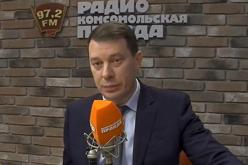 """Алексей Холопов в студии Радио """"Комсомольская правда"""""""
