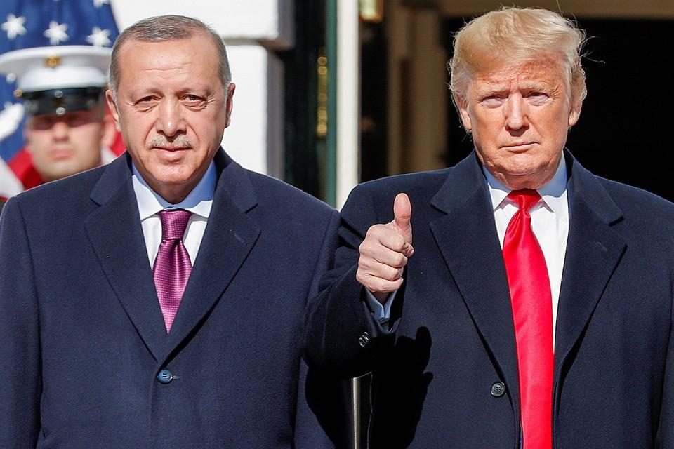 Президенты США и Турции перед началом переговоров в Вашингтоне.