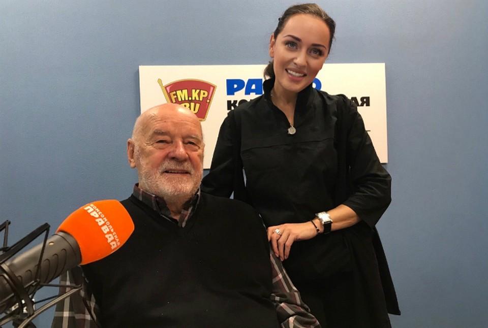 Владимир Губарев и Ольга Маркина в студии радио «Комсомольская Правда в Петербурге» 92,0 FM