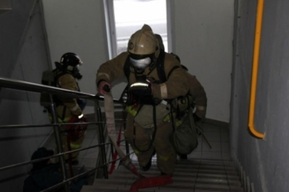 Шалость удалась: игравшие со спичками дети подожгли многоквартирный дом в Кузбассе. ФОТО: ГУ МЧС России по Кемеровской области.