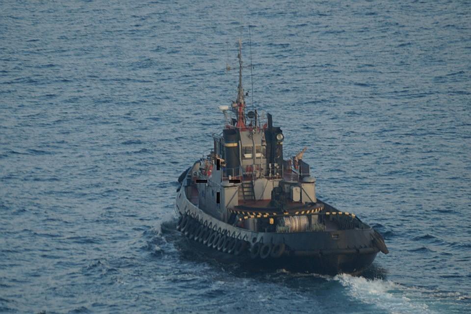Украинские корабли нарушили границу. Фото: Погрануправление ФСБ России по Республике Крым
