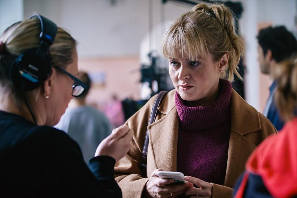 """Анна Михалкова на съемках комедии """"Давай разведемся!""""."""