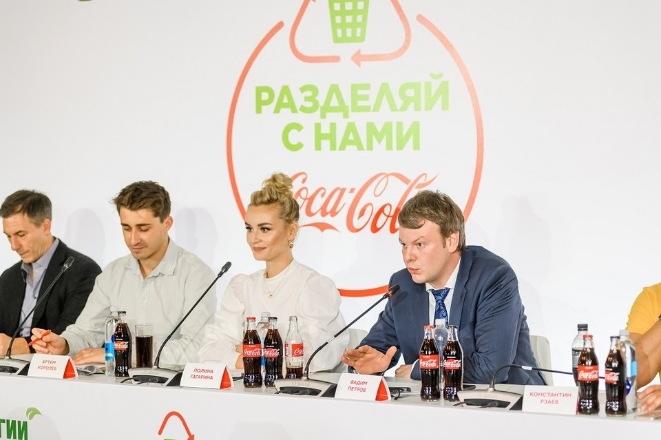 Полина Гагарина - амбассадор проекта «Разделяй с нами». Фото: Пресс-служба компании Coca-Cola