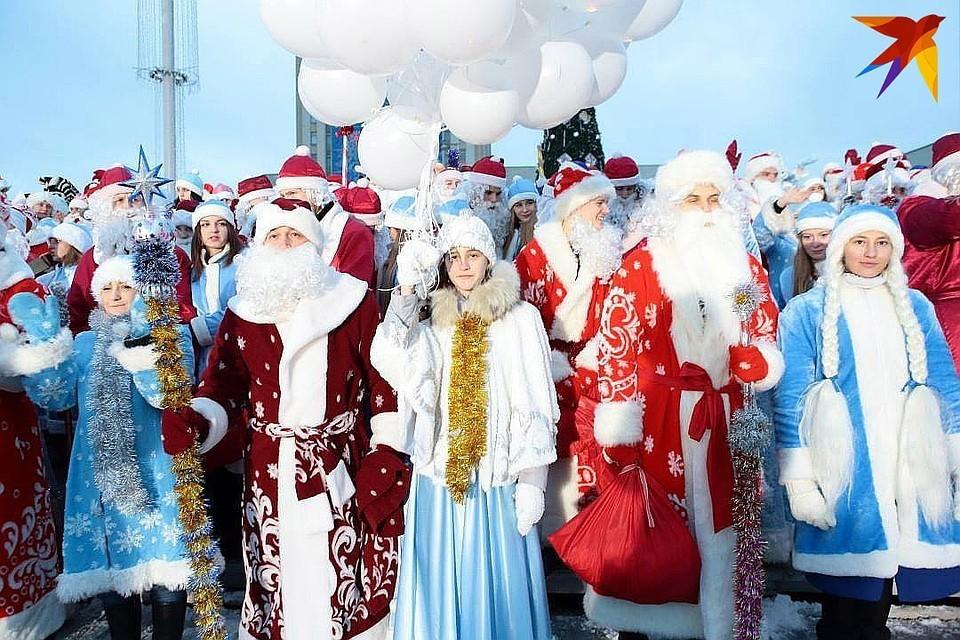 Праздничное шествие традиционно проходит в Минске.