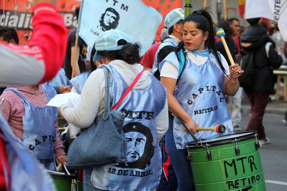 Протесты в Буэнос-Айресе простив соглашений с МВФ.