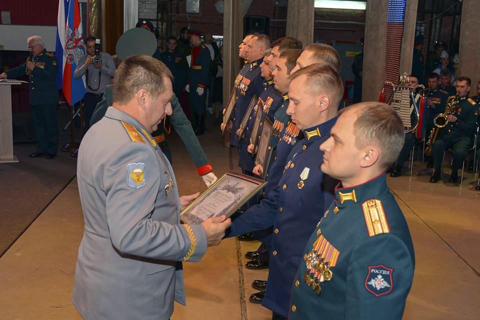 Награждении офицеров, прошедших боевой курс