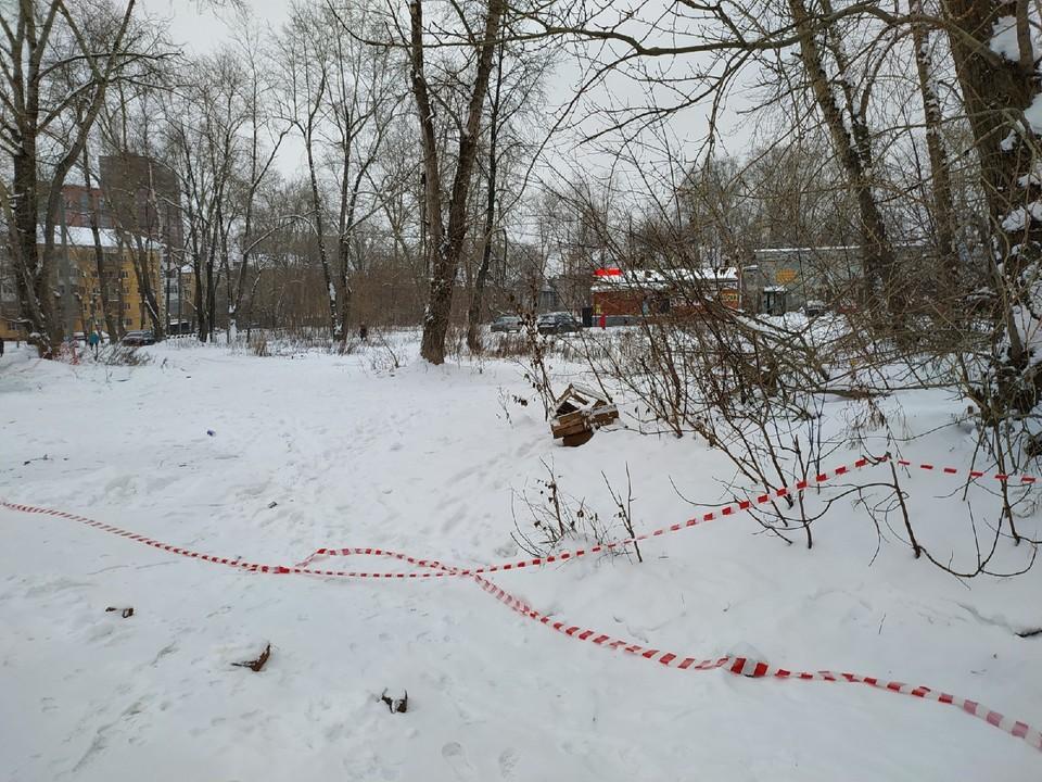 Фото с места, где убили женщину