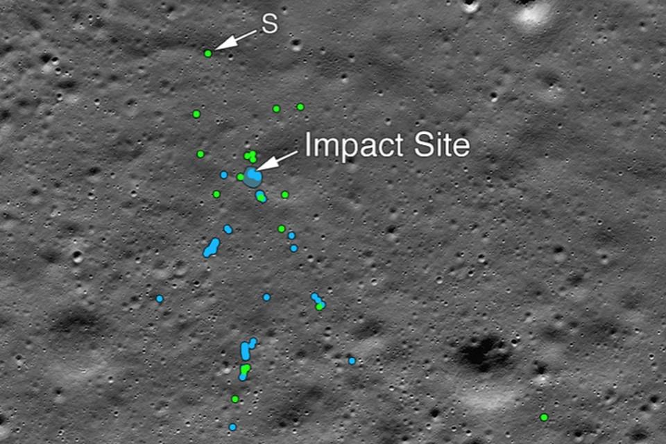Индусы все-таки разбили свой аппарат об Луну.
