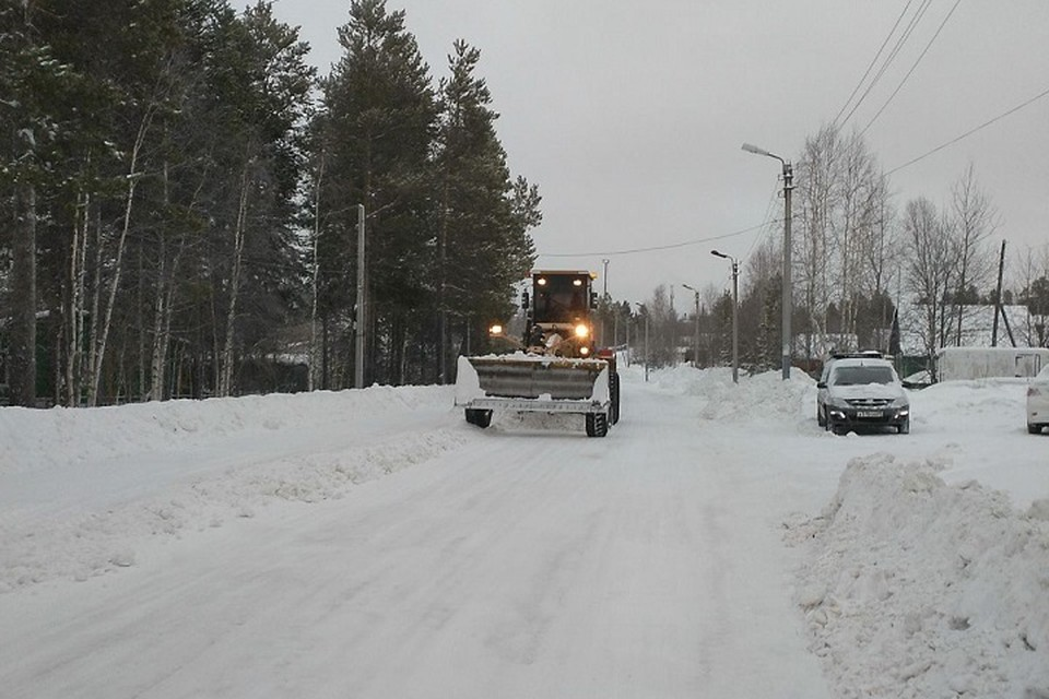 В Ноябрьске из-за метели усилили уборку городских улиц Фото: Администрация Ноябрьска