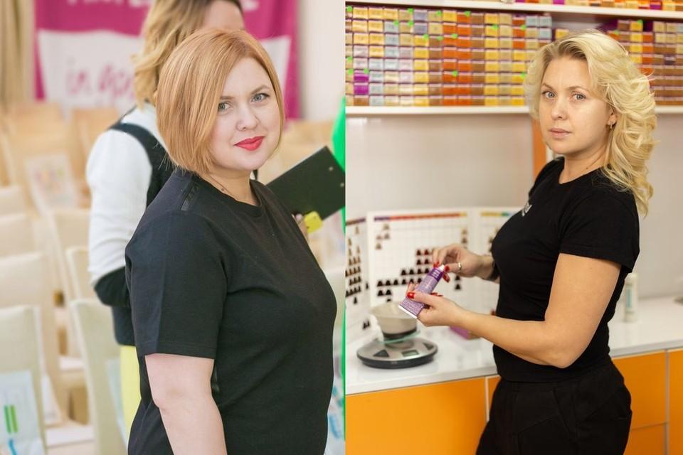 Ангелина весила 95 килограммов и не могла работать парикмахером. Зато сейчас она - красотка! Фото: личный архив.