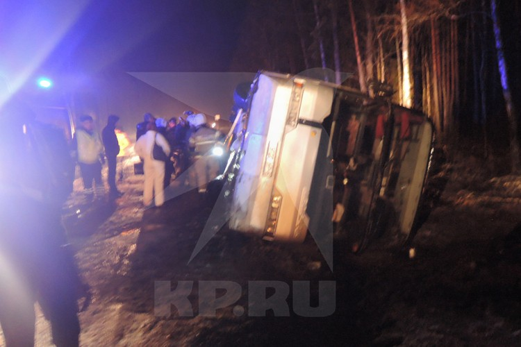 Фото очевидцев с места ДТП в Псковской области.
