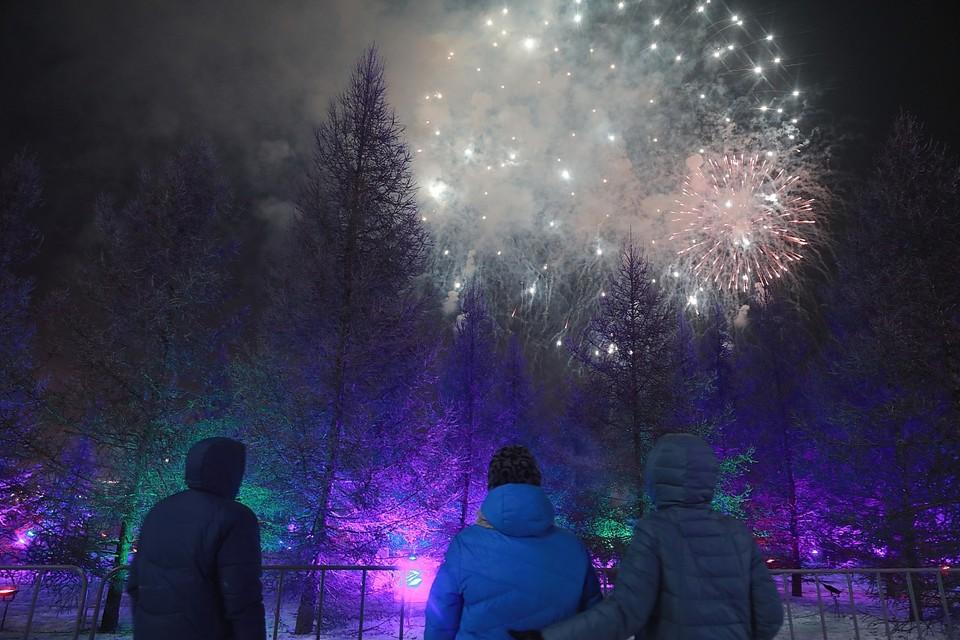В полночь в Татышев-парке будет яркий фейерверк.