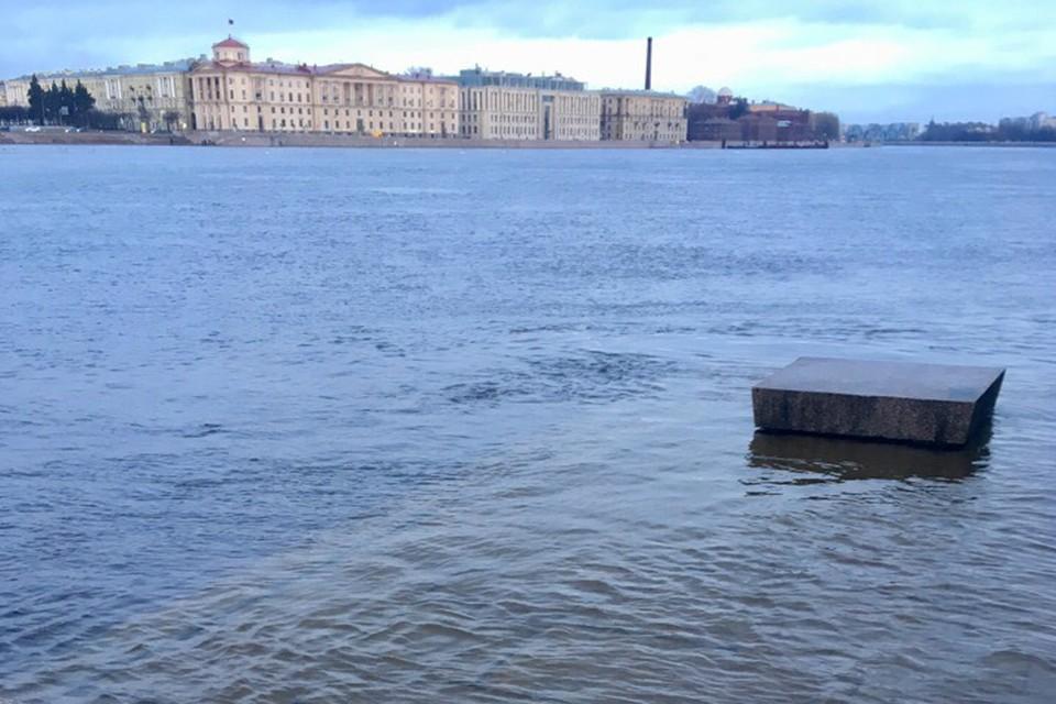 Только за последний час уровень воды снизился на пять сантиметров. Фото: vk.com/id37764334