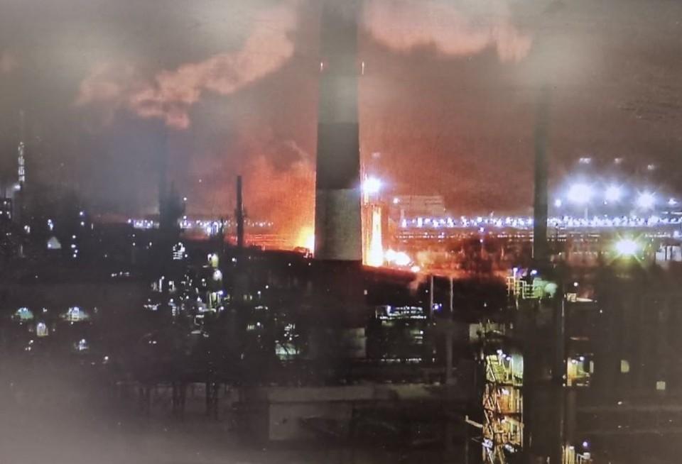 Камеры видеонаблюдения зафиксировали зарево пожара. Фото Константина Паршакова