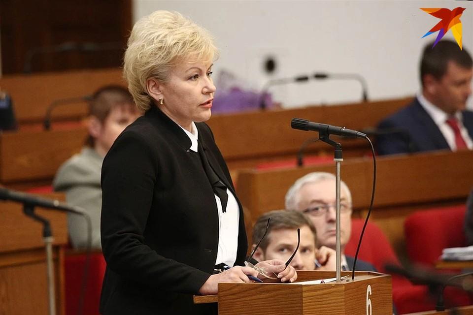 Министр труда Ирина Костевич