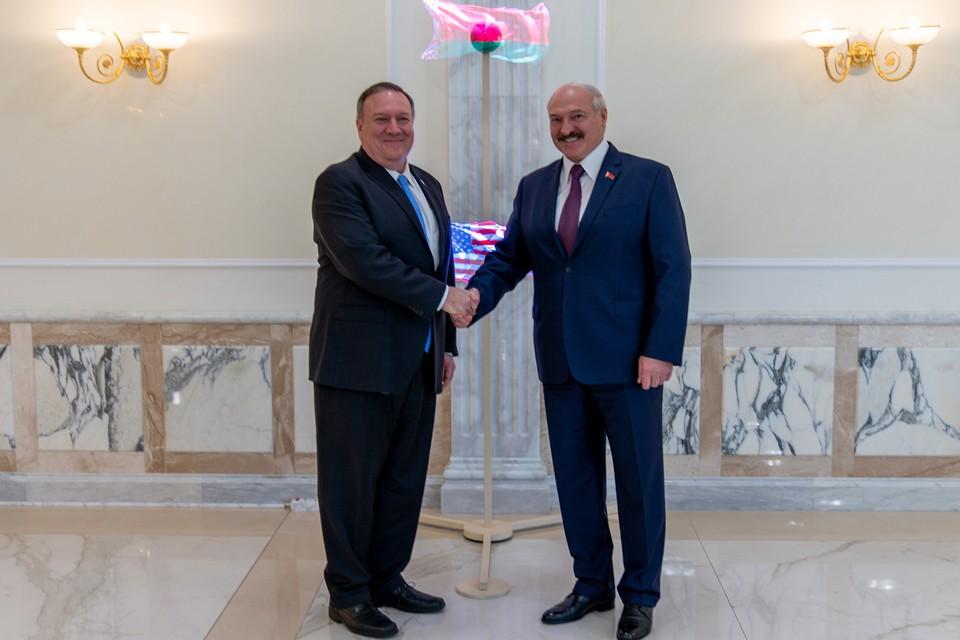 Помпео и Лукашенко на встрече в Минске. Фото: state.gov