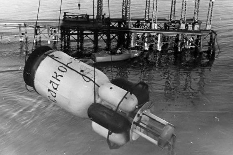 """Погружение подводного дома """"Садко-3"""". Фото из архива РГГМУ"""
