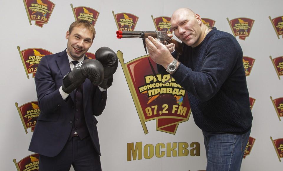 Антон Шипулин и Николай Валуев в эфире Радио «Комсомольская правда»