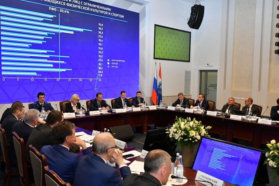 В Тольятти прошло заседание Совета по развитию массового, детско-юношеского спорта и физической культуры в ПФО. Фото: правительство Самарской области.