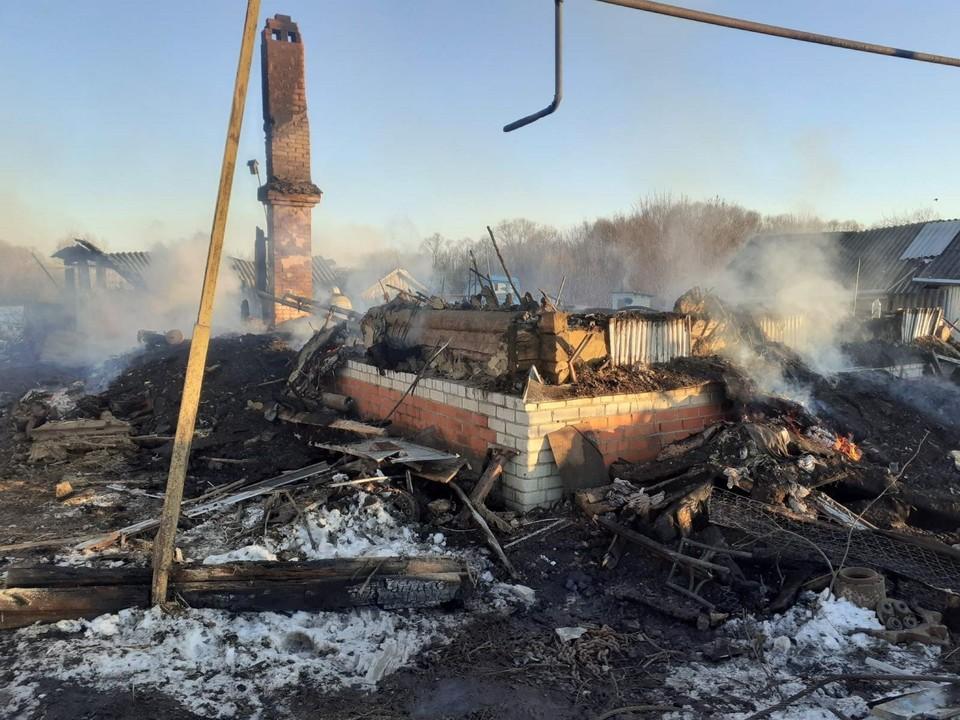 На пожаре в селе под Петровском погибла 93-летняя женщина. Фото СУ СКР по Саратовской области