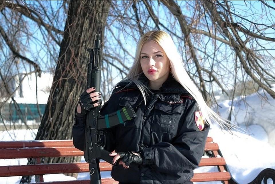 Анна Храмцова двукратная победительница Свердловской области по фитнес-бикини. Фото: пресс-служба Росгвардии